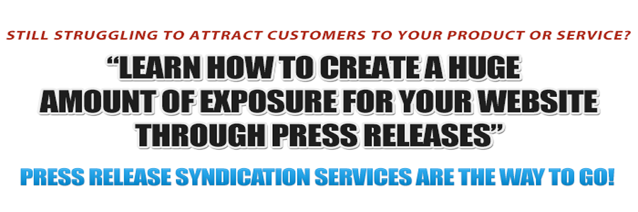 Press Release Syndication Services