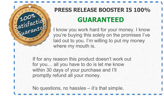 Press Release Booster Guarantee